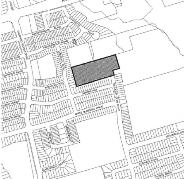 thornhill woods new development map